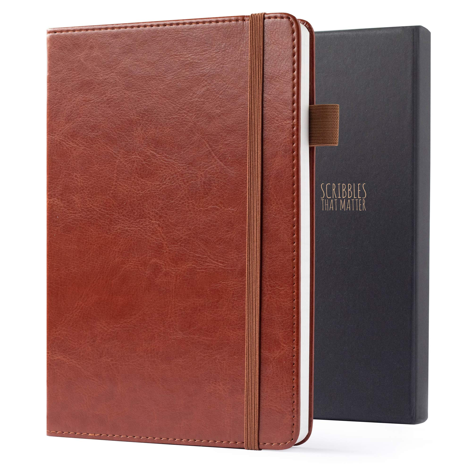 Thick Premium Paper Ruled Notebook Premium A5 Journal Hardcover Classic Vegan Leather Notebook