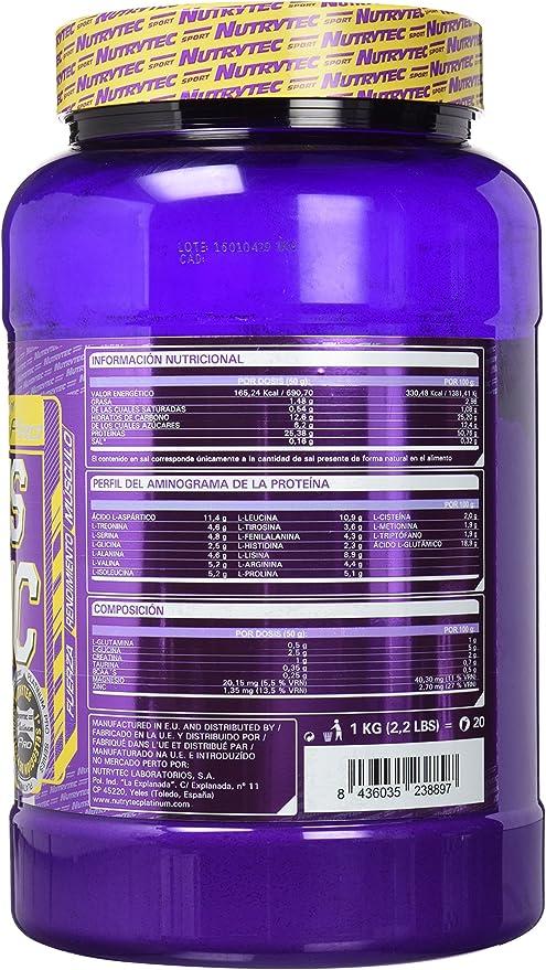 Nutrytec Colossus Anabolic Muscle Platinum, Sabor a Fresa - 1000 gr