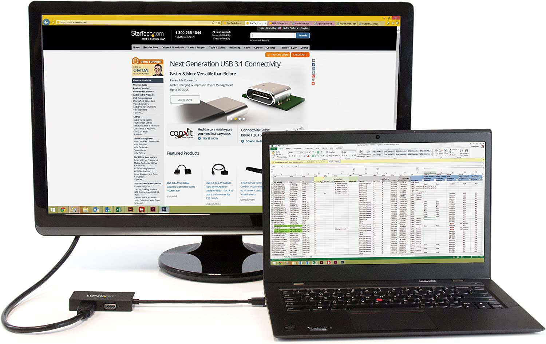 Mini DP//Thunderbolt to HDMI//VGA//DVI Splitter for Your Monitor MDP2VGDVHD StarTech.com 3 in 1 Mini DisplayPort Adapter 1080p