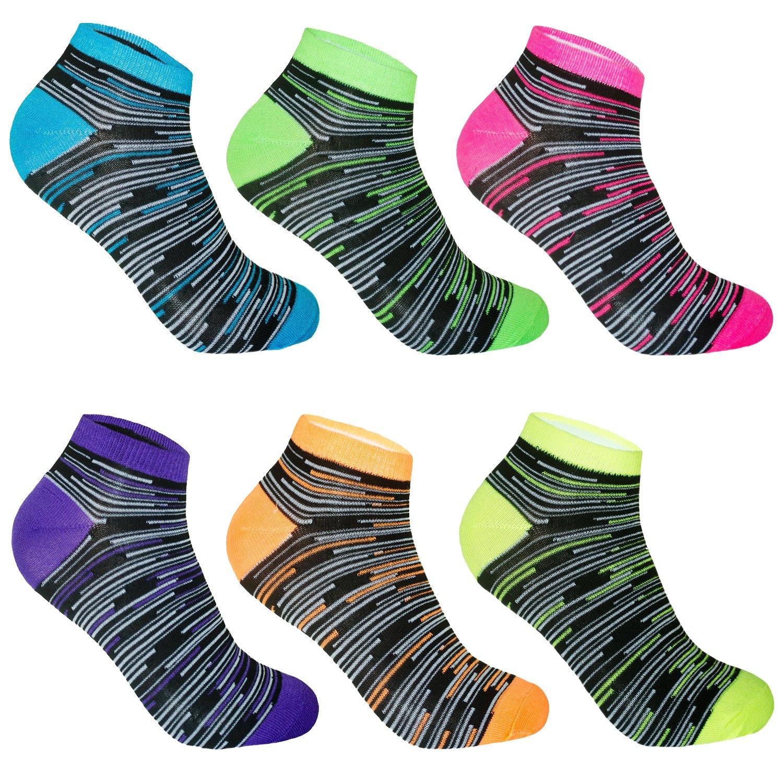 L&K Pack de 6/12 Calcetines Sneaker Cortos de deporte para Mujer Multicolor 92201VA product