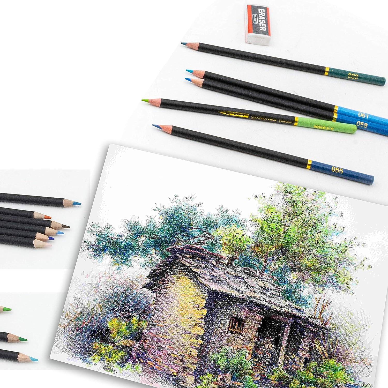 Lápices de Colores Conjunto de dibujo surcotto 24 lápices de dibujo Coloración Lápices