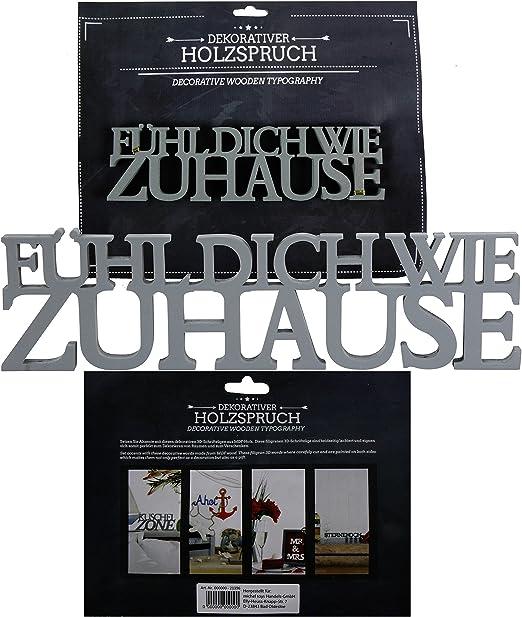 Schriftzug Zuhause Dekoration Sperrholz Holz