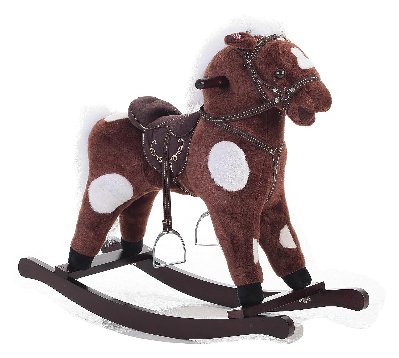 ahorra hasta un 50% Caballo balancín de peluche con sonido sonido sonido Color marrón de tacto suave (31  78cm de alto Y 16  40cm de ancho) - Buena calidad  venta de ofertas