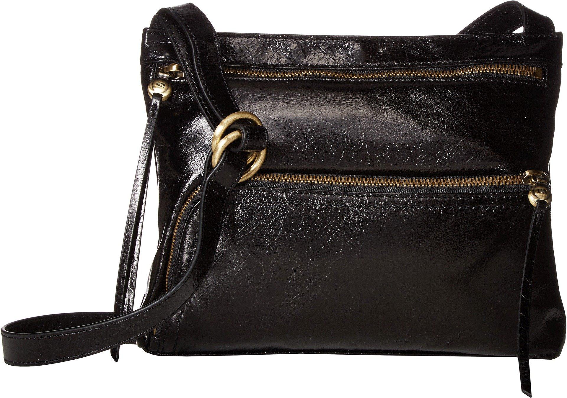 Hobo Womens Genuine Leather Vintage Cassie Crossbody Bag (Black)