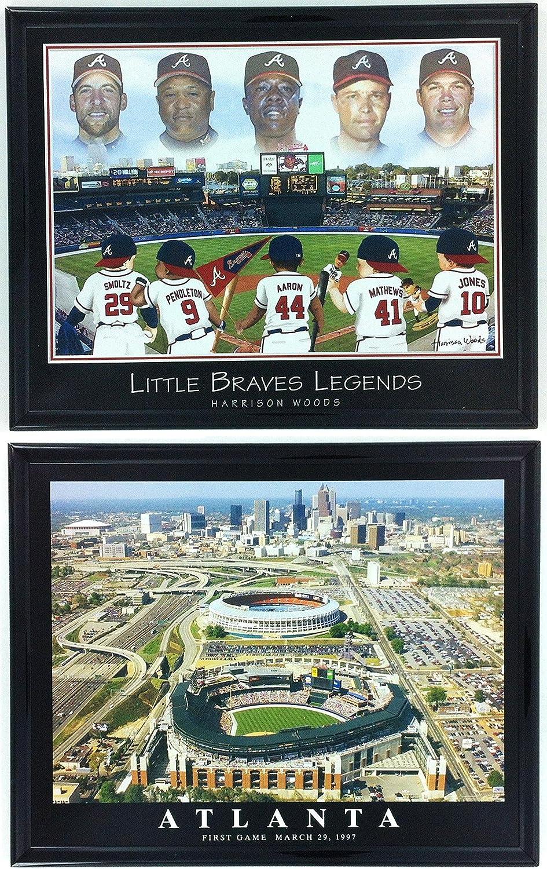 Framed Baseball Little Braves Legends Atlanta Braves Stadium LL6006