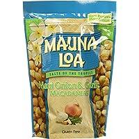 Mauna Loa Premium Hawaiian Roasted Macadamia Nuts, Maui Onion Garlic Flavor, 10 Oz Bag (Pack of 1)