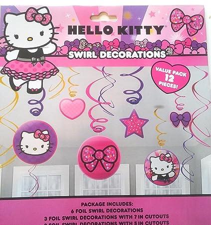 Amazon Com Hello Kitty Swirl Decorations Toys Games