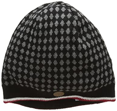 of London Mens Bonnet Tricot à Losanges Knepp Sunhat, Black (Black), One Size Merc