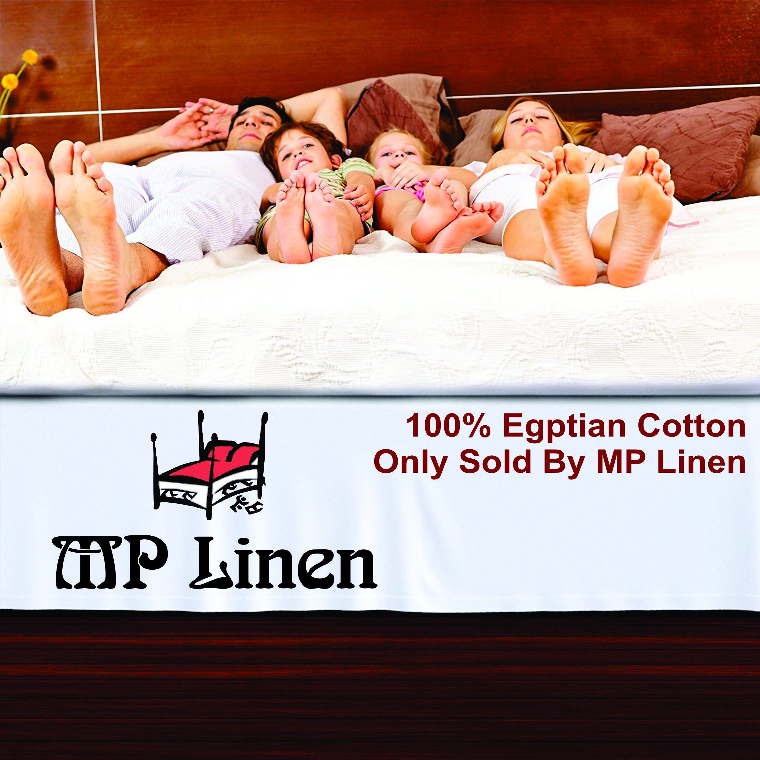 MP Linen Hotel Quality 550 Thraed Count 100% Egyptian Cotton Two Pieces Pillow Sham Euro/European 26'' x 26'' Size, White Solid