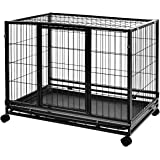 AmazonBasics Heavy Duty Stackable Pet Kennel with Tray