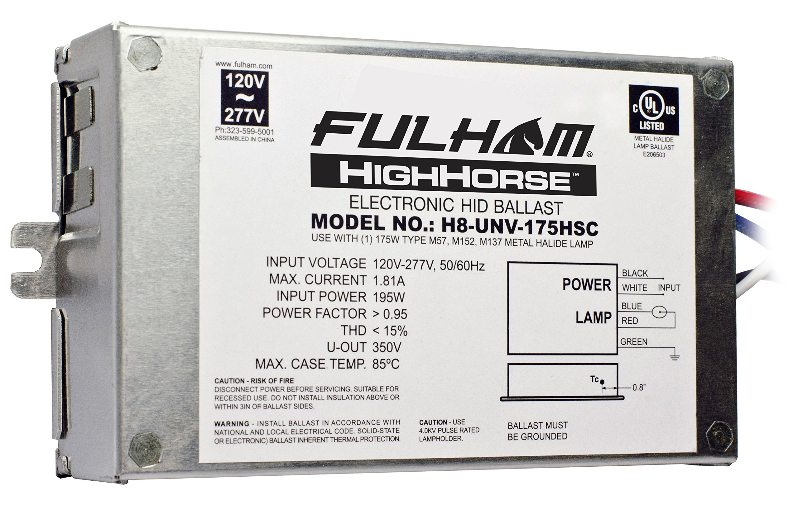 Fulham Electronic HID Ballast, H8-UNV-175HSC
