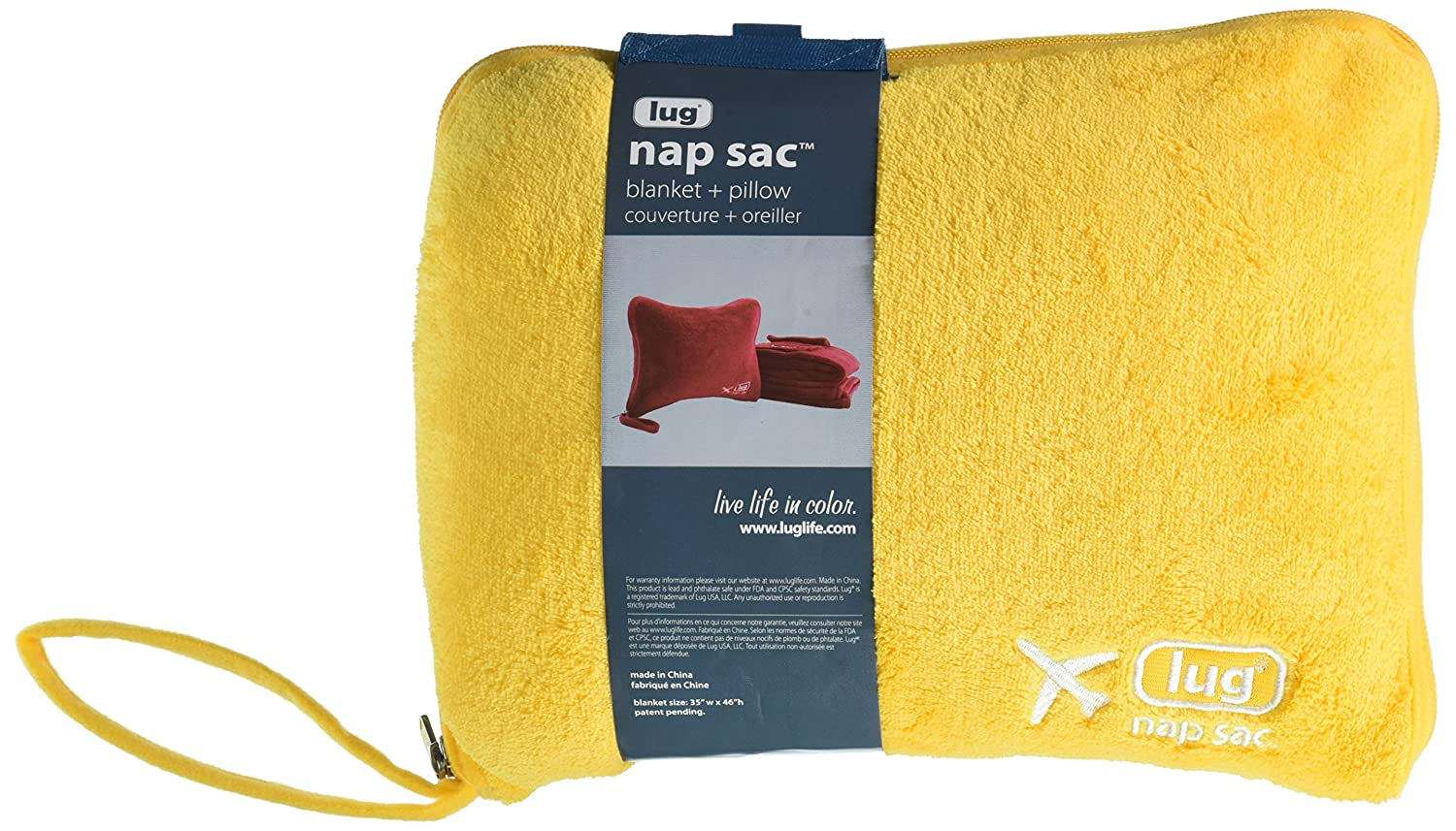 Lug Nap Sac Blanket and Pillow, Marigold Gelb, One Größe
