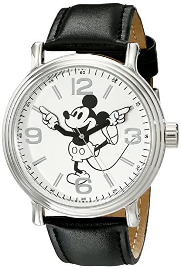 8c7e25cec4ad Disney W001853. Reloj de cuarzo analógico de Mickey Mouse para hombre