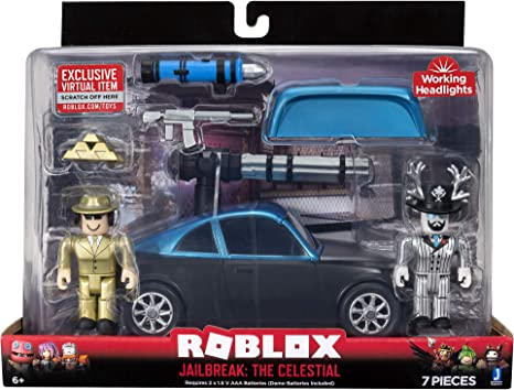 M G Roblox Amazon Com Roblox Action Collection Jailbreak The Celestial Deluxe Vehicle Includes Exclusive Virtual Item Toys Games