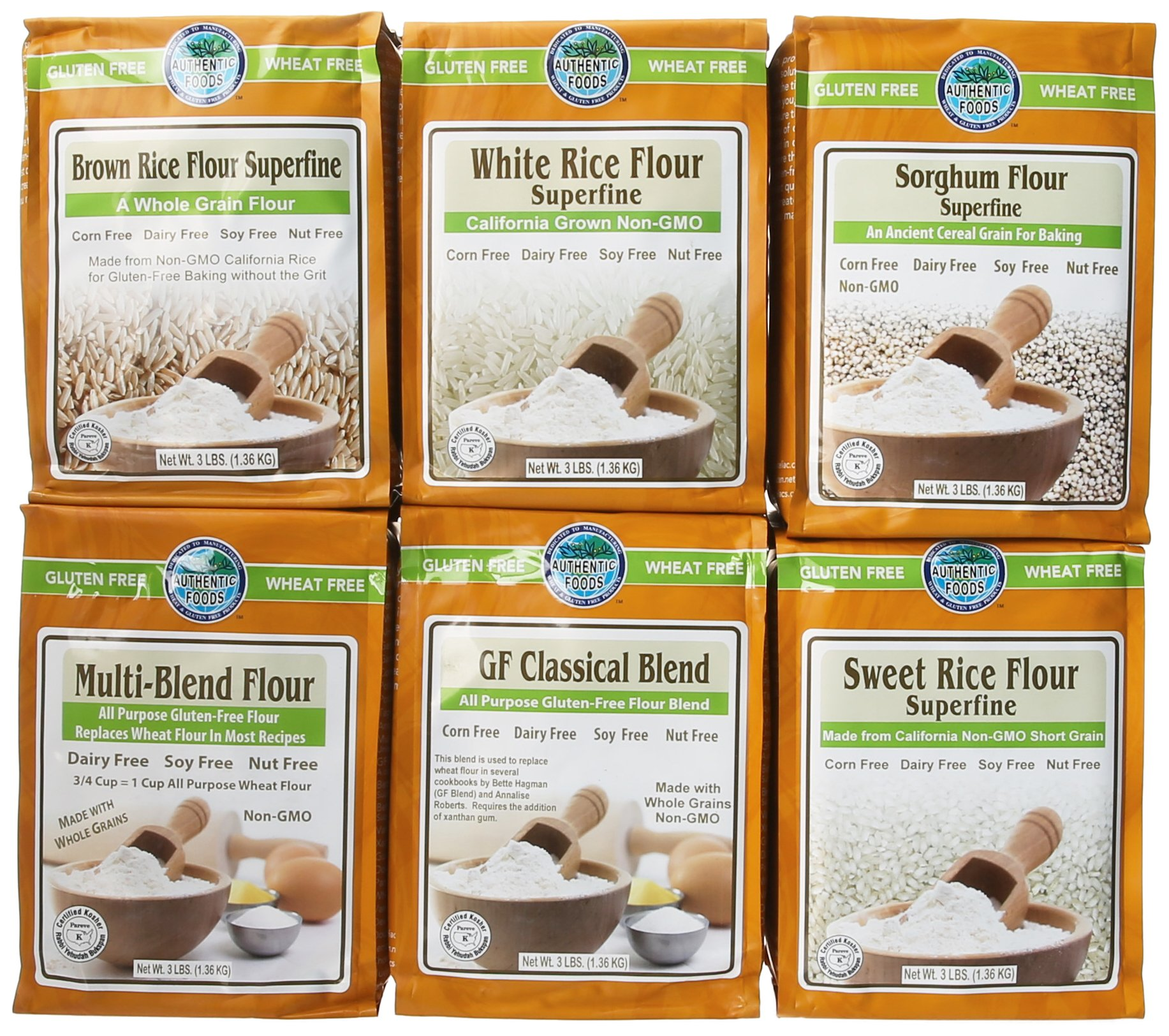 Authentic Foods Gluten Free Flours, 48 Ounce , 6 Count