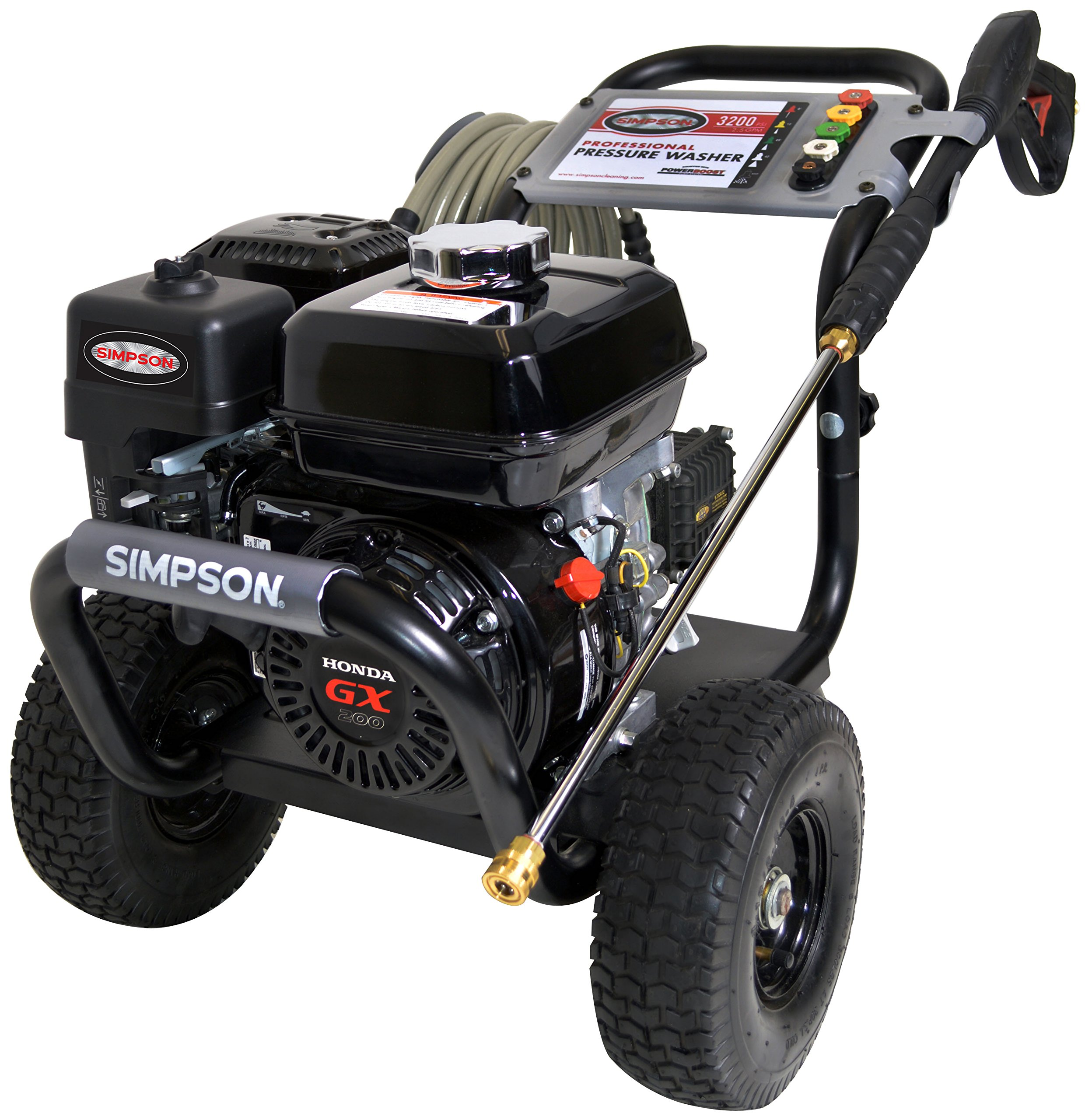 SIMPSON Cleaning PS3228-S 3200 PSI at 2.5 GPM Gas Pressure Washer Powered by HONDA with AAA Triplex Pump