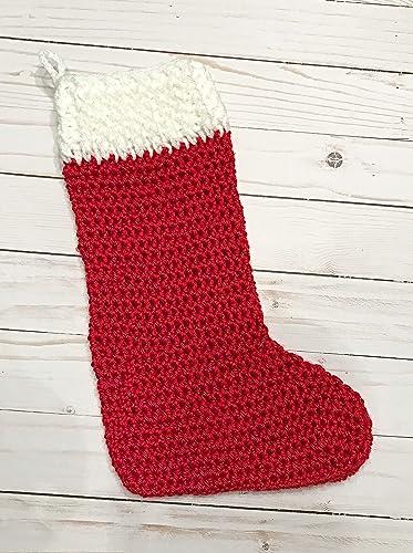 Crochet Christmas Stocking.Amazon Com Crochet Christmas Stocking Handmade