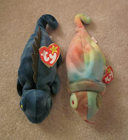 fc7002290a3 Amazon.com   Set of Two Ty Beanie Babies - Iggy and Rainbow by Ty    Everything Else