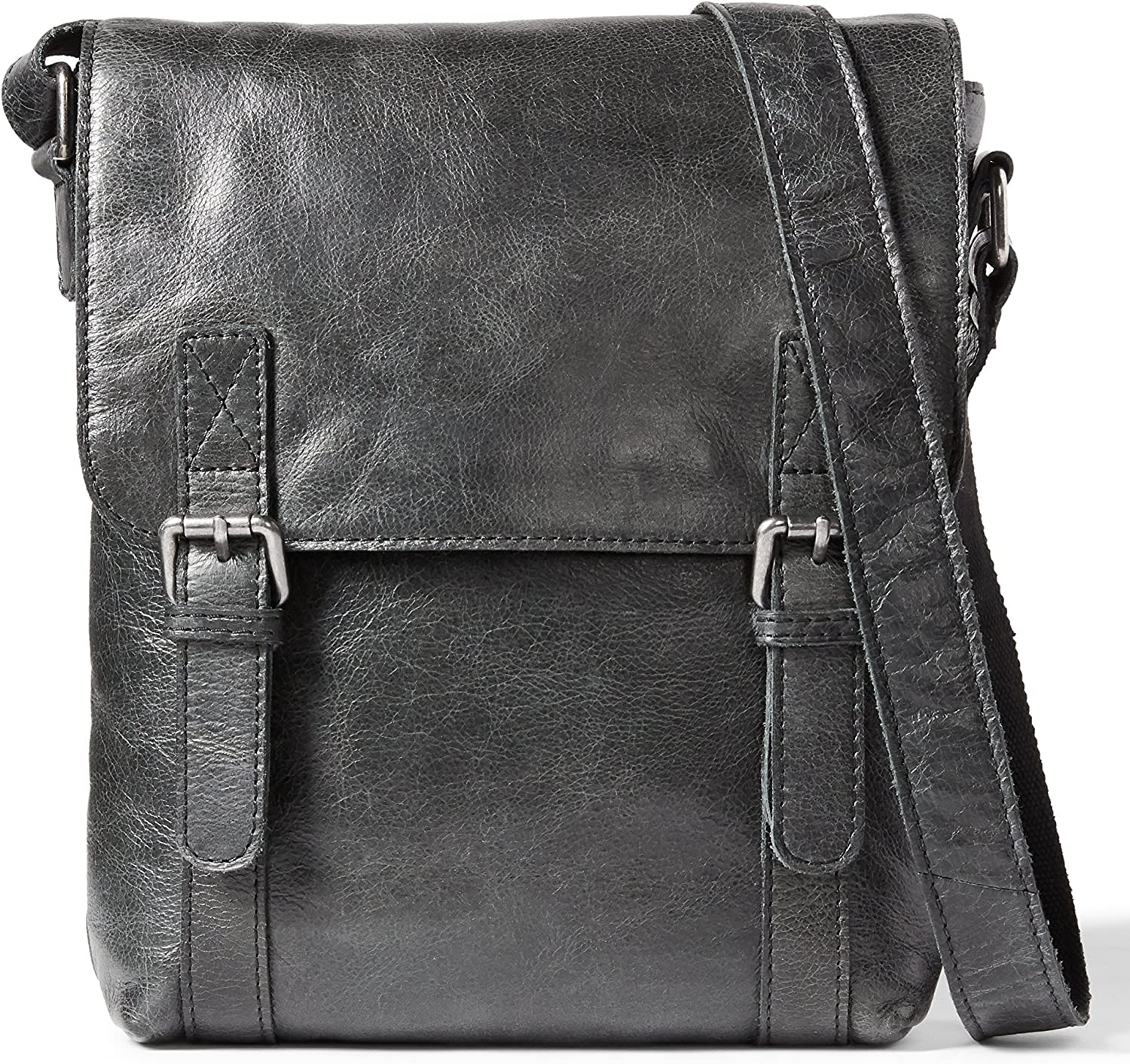 Leather Architect Men/'s 100/% Cross Over Messenger Bag Black