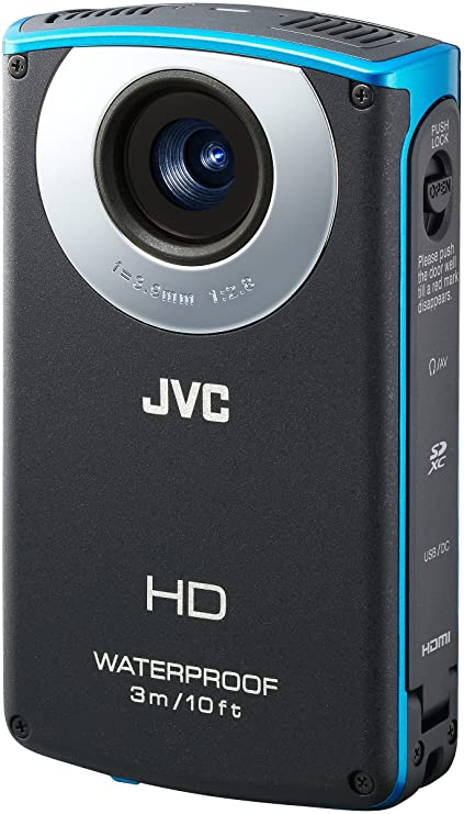 amazon com jvc picsio gc wp10 waterproof pocket video camera blue rh amazon com Picsio JVC GC-FM2 JVC Picsio GC-WP10