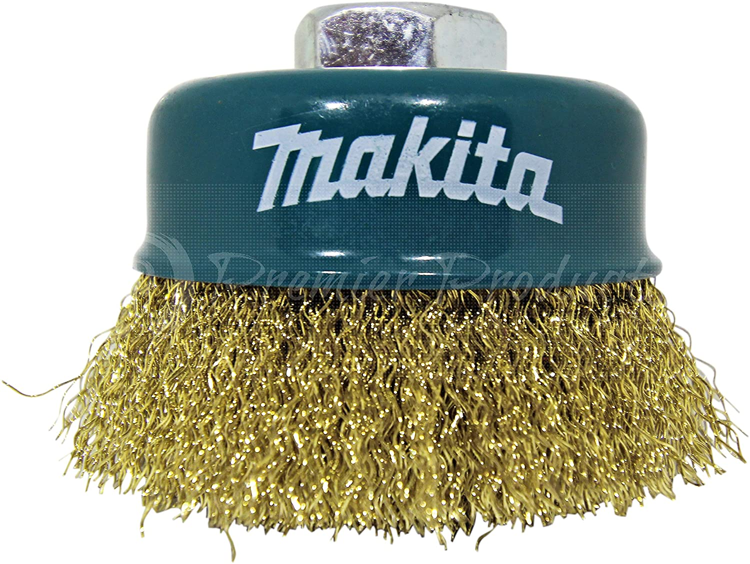 Makita 1 Piece 3 Inch Brass Crimped Wire Cup Brush For Grinders 5//8-Inch Arbor 11 UNC Spark-Free Conditioning For Metal