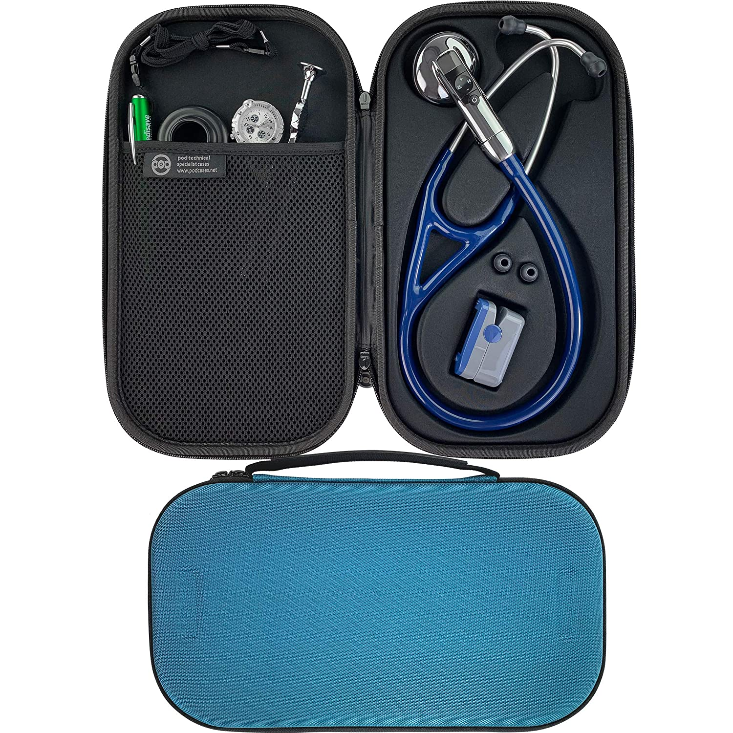 Pod Technical Cardiopod II - Funda para estetoscopios Littmann, color azul