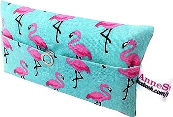 Taschentücher Tasche Flamingo türkis pink Glitzer Design Adventskalender Befüllung Wichtelgeschenk Mitbringsel Give away Mitarbeiter Weihnachten