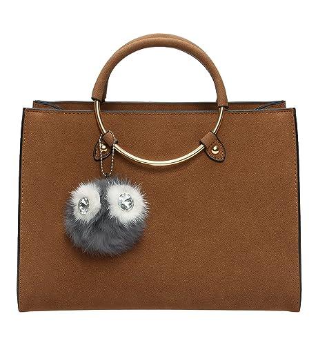 Amazon Com Tom Clovers Womens Owl Fur Ball Pom Pom Round Ring Matte