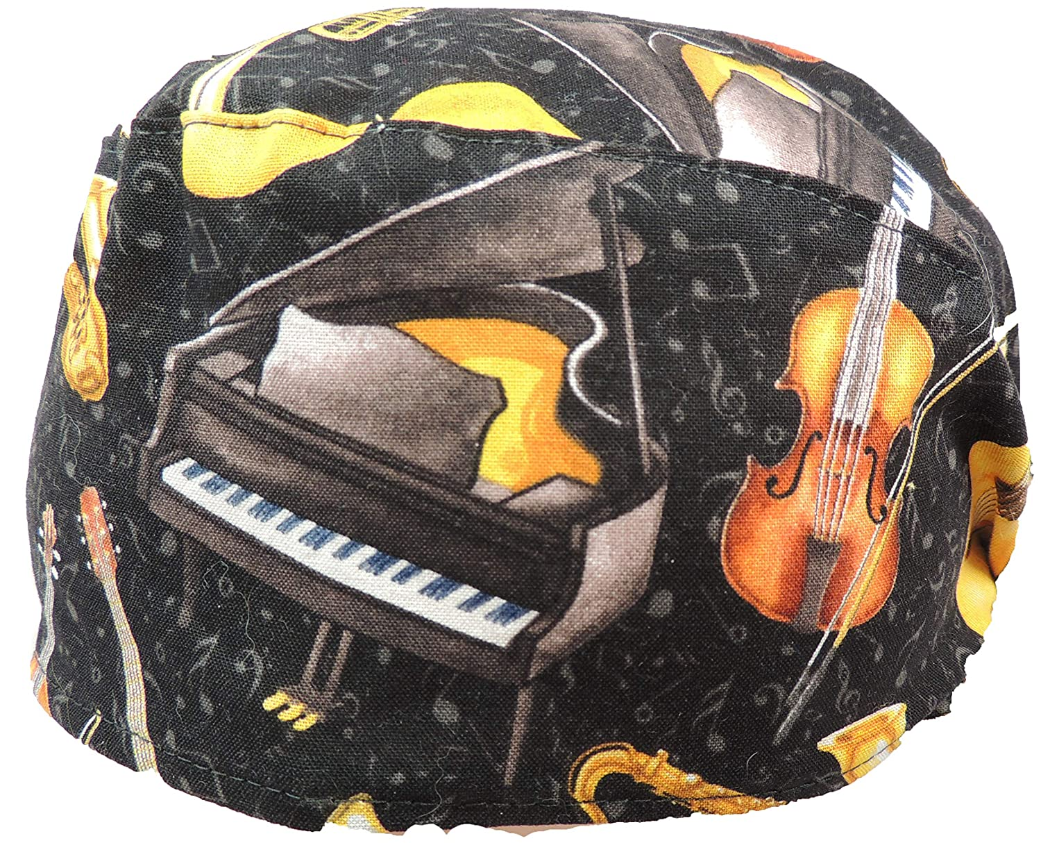 Please Play More Medical Scrub Hat 100/% Cotton with Tie Back Closure Great Music