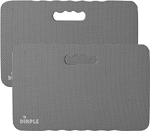 Dimple DC14013GR2, High Density Thick Foam Comfort Kneeling Mats Yoga Exercise, Garden Cushions, Knee Pads, Grey