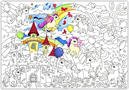 Amazon.com: O'Kroshka Big Giant Colouring Poster Colorings For Children  Unicorns Baby. Coloring Pages For Kids And Adults. Color Me Posters For  Family! (38.5 X 26.7 In): Toys & Games