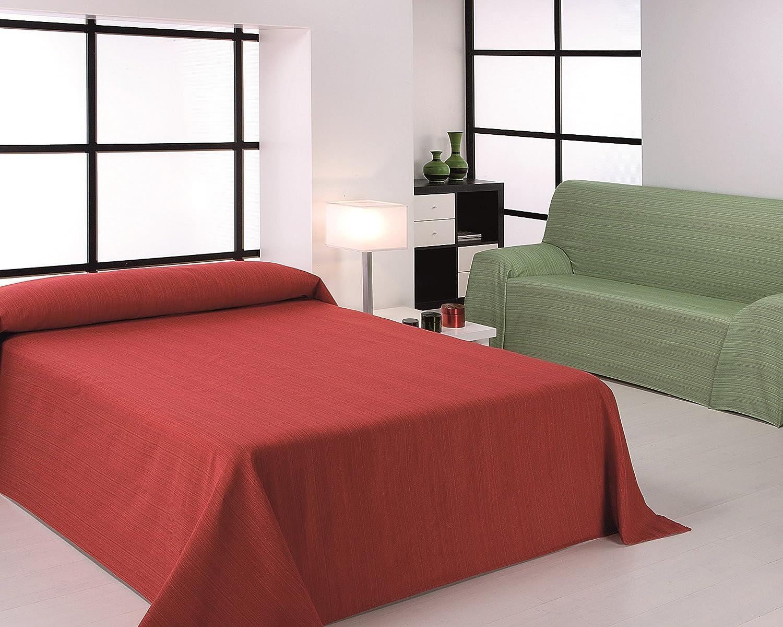 Martina Home Ribera Foulard Multiusos / Plaid, Tela, Rojo, 230 x 270 cm