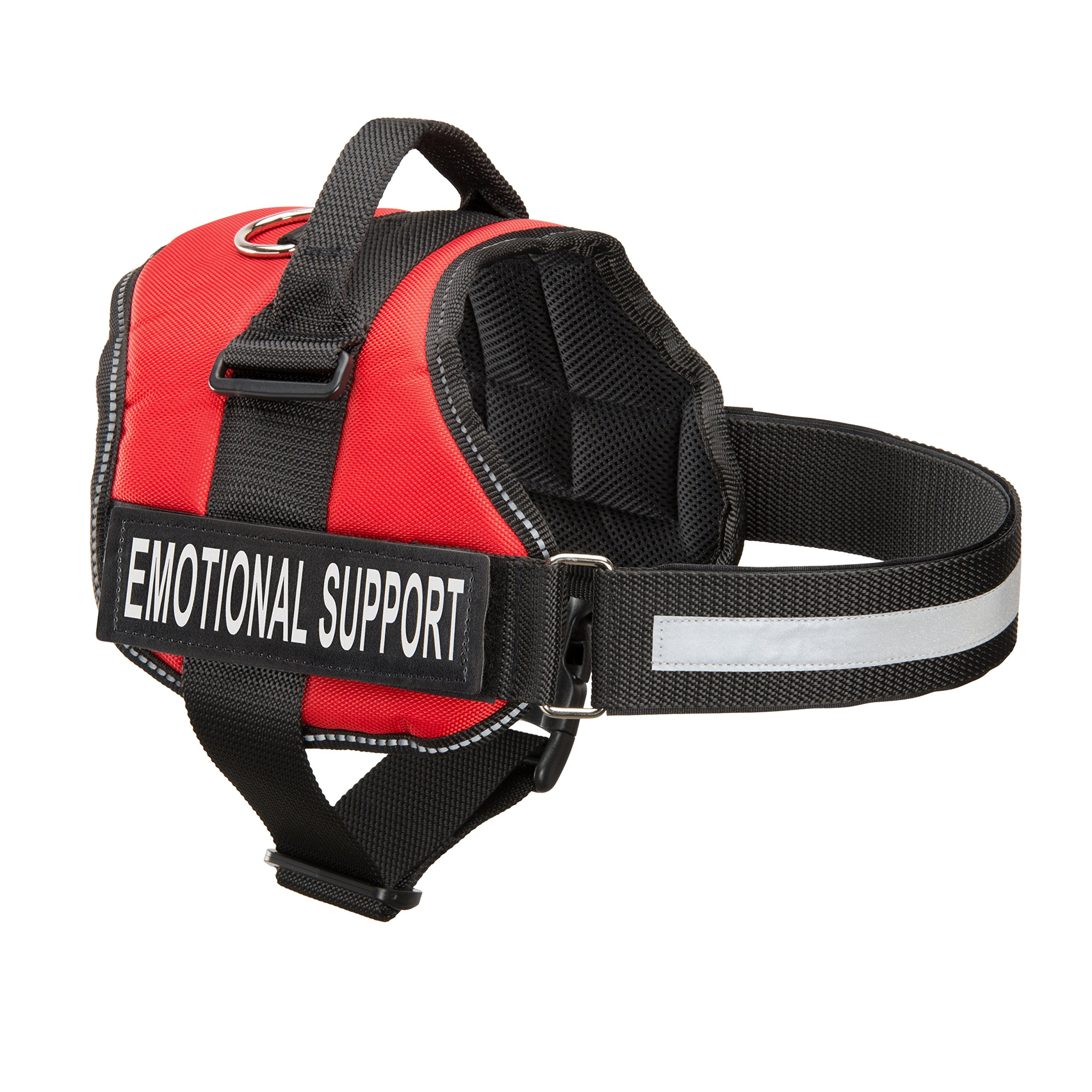 Emotional Support Dog Harness With Reflective Straps, Interchangeable Patches, & Top Mount Handle | 7 Adjustable Sizes | Heavy Duty Construction