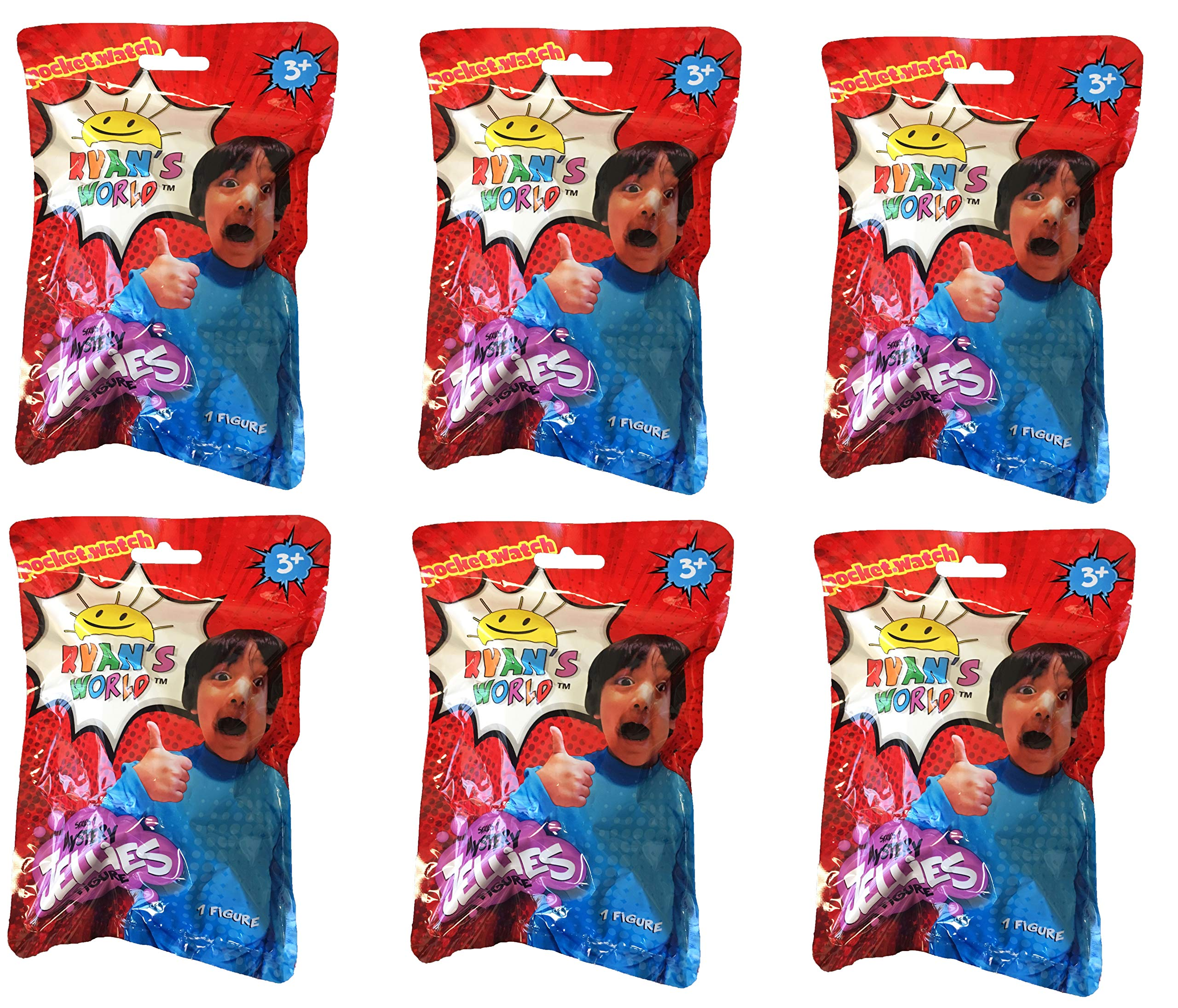 Ryan's World Surprise Jellies Squishy Toy Lot of 6 - Includes 6 Random Characters by Ryan's Toy Review by Ryan's World (Image #1)