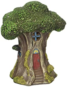 """Touch of Nature 55614 Fairy Garden Led Tree House, 6"""""""