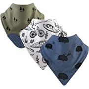 Yoga Sprout Bandana Bib with Teether, 3 Pack Accessory, adventure, One Size