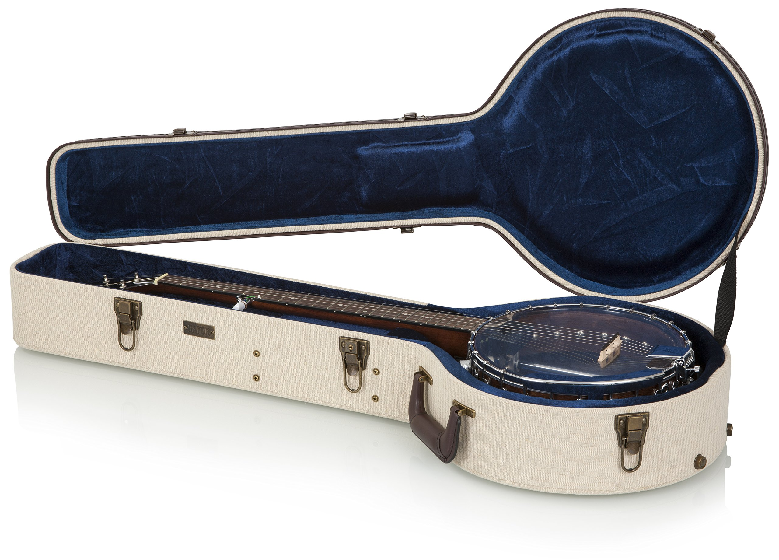 Gator Cases Journeyman Series Deluxe Wood Case for Banjos (GW-JM BANJO XL) by Gator (Image #2)