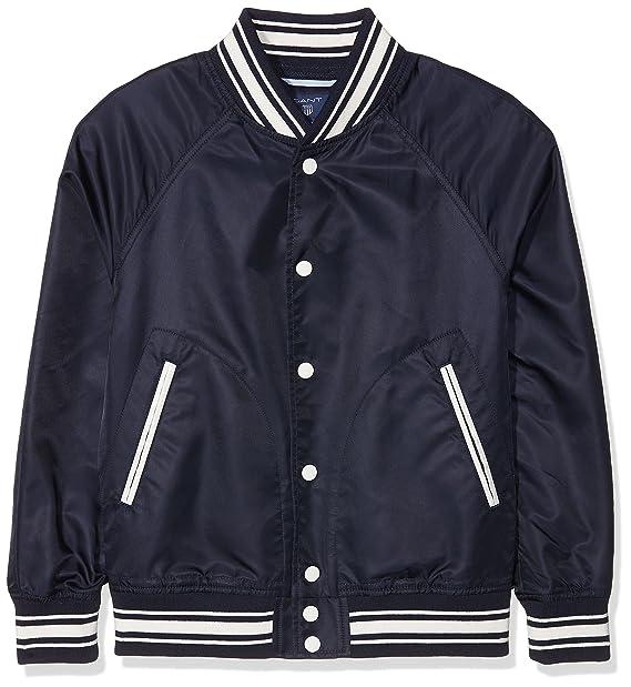 Gant Varsity Jacket, Chaqueta para Niños, Azul (Evening Blue 433), 122