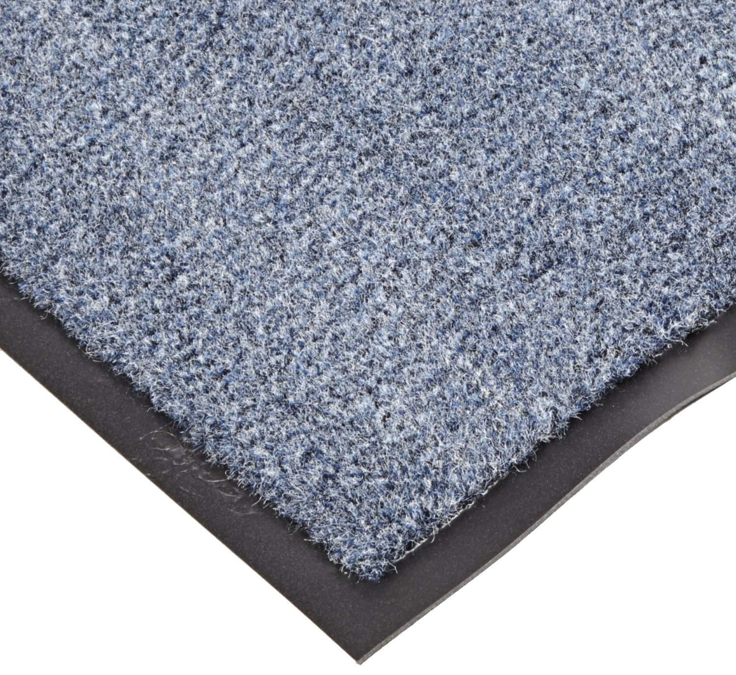 NoTrax T37 Fiber Atlantic Olefin Entrance Carpet Mat, for Wet and Dry Areas, 3' Width x 5' Length x 3/8'' Thickness, Slate Blue