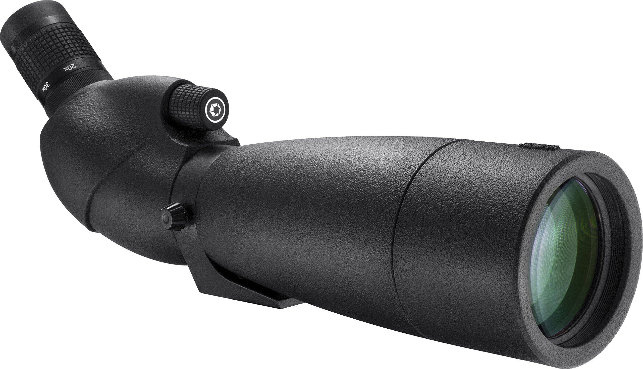 BARSKA AD12360 WP Level Angled Spotting Scope, Black, 20-60x80 by BARSKA