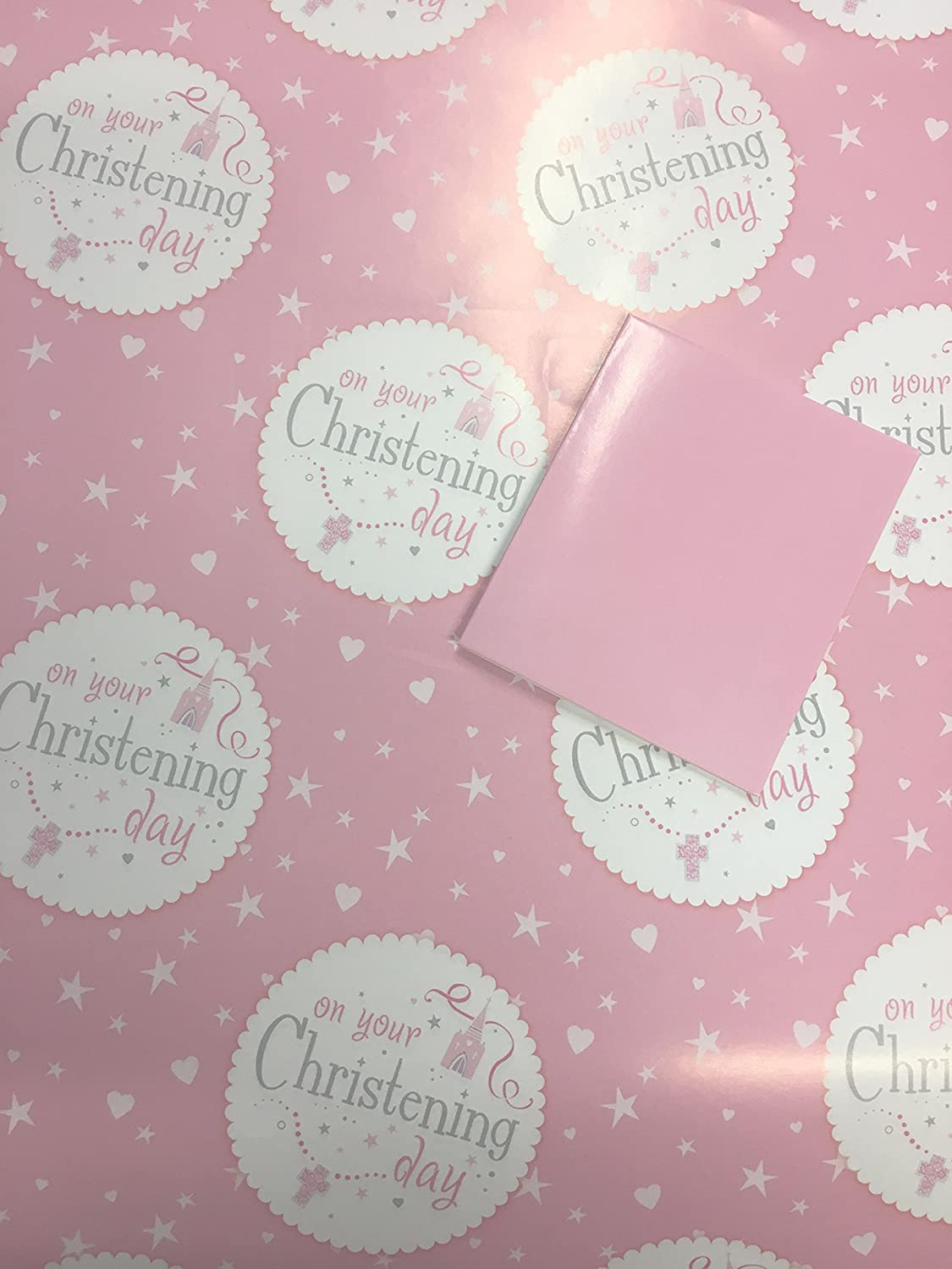PINK GIFT TAG 2 SHEETS OF THICK GLOSSY 40TH BIRTHDAY WRAPPING PAPER
