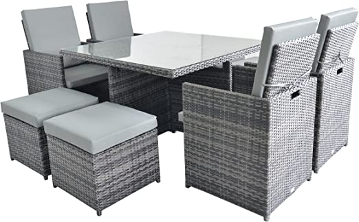 Sevilla 4 A 8 plazas ratán muebles de jardín conjunto completo de ...