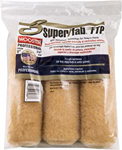 The Wooster Brush Company RR929-9 Super Fab FTP Roller Cover 3/4-Inch Nap, 3-Pack
