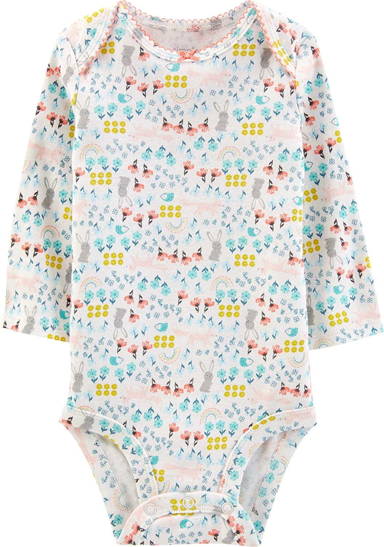 Body a maniche lunghe da bambina Simple Joys by Carters confezione da 5