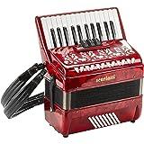 Scarlatti Accordions JH2648 AL0011F - Acordeón de teclas, color rojo