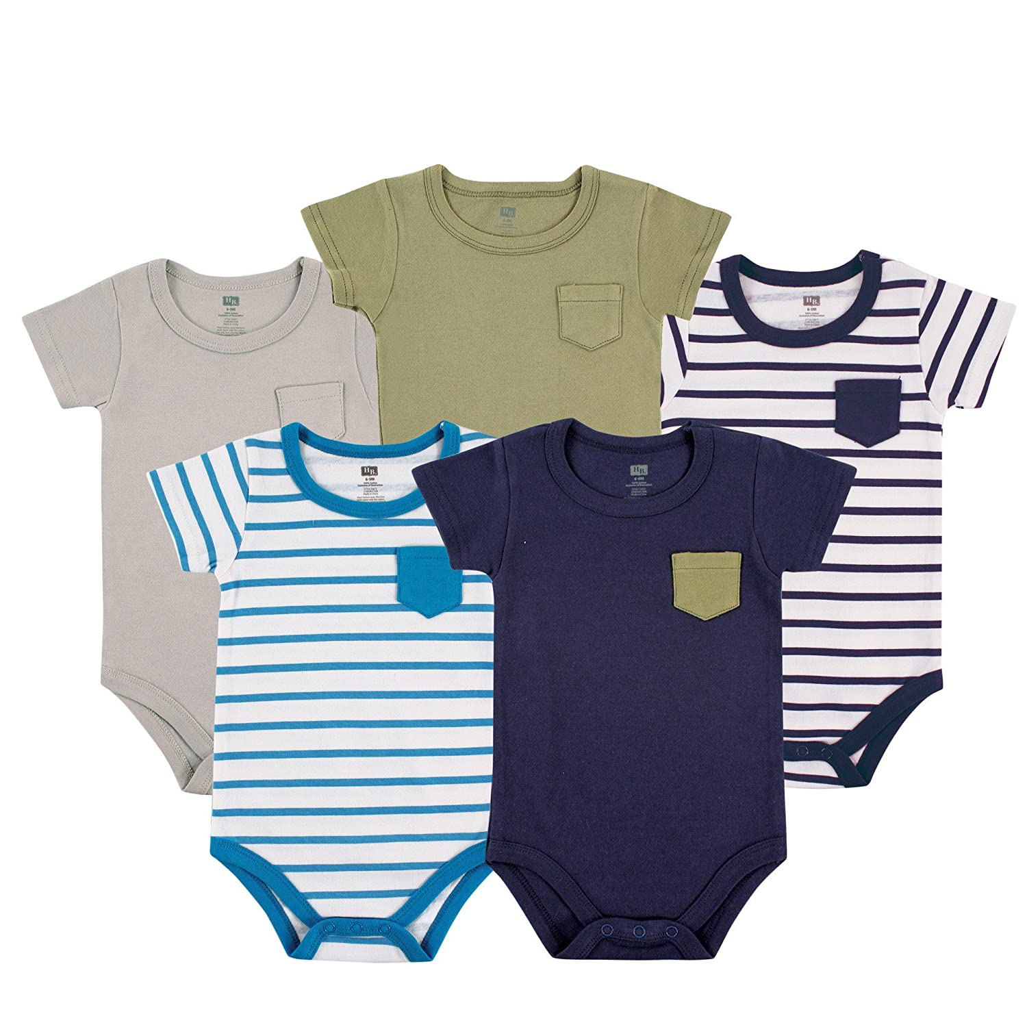 Amazon Hudson Baby Baby Cotton Short Sleeve Bodysuits 3 Pack