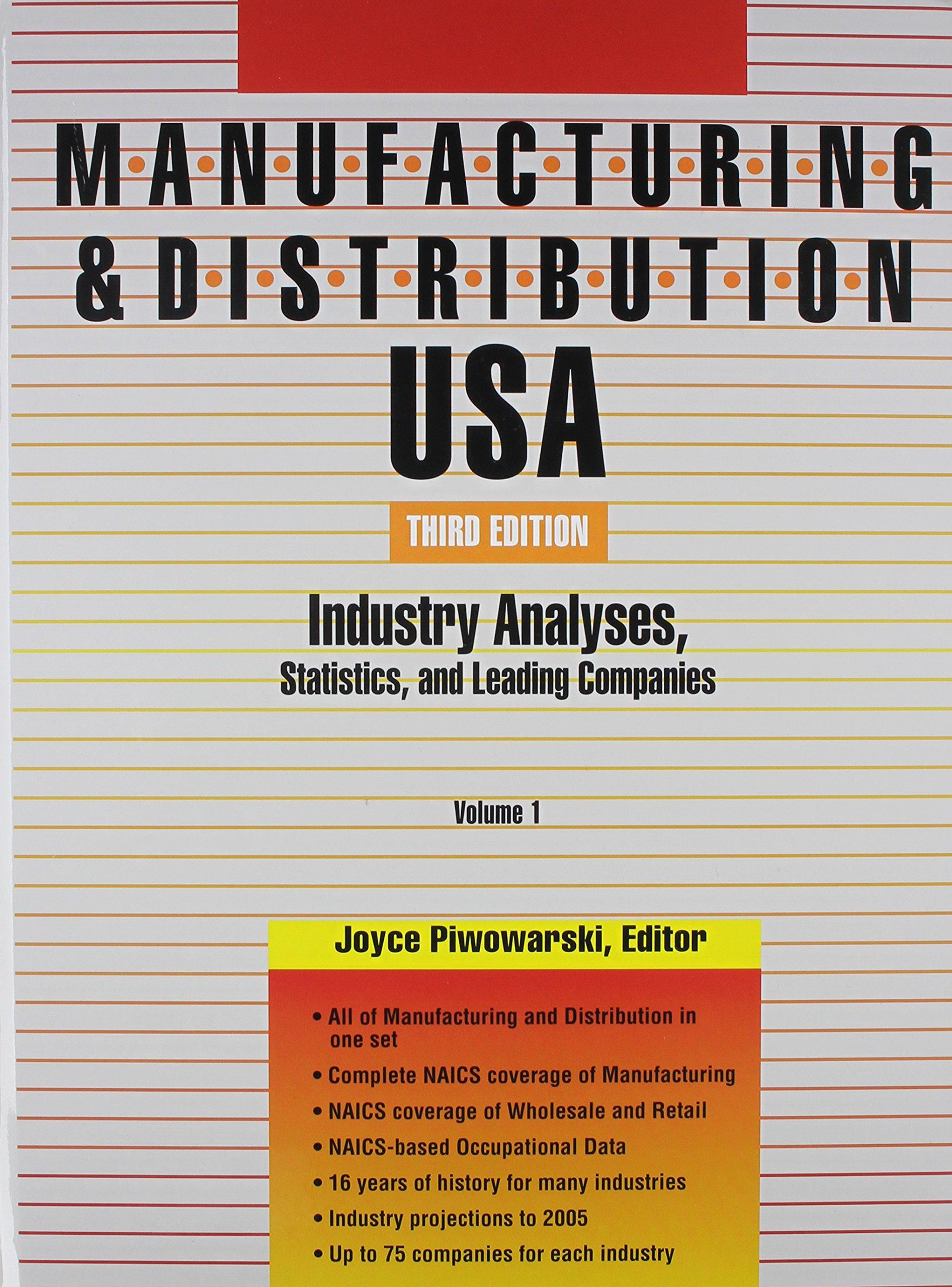 Manufacturing & Distribution USA, 3v Set ebook