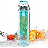Trinkflasche für Fruchtschorlen, 800 ml, Tritan, BPA-frei, viele Farbe erhältlich