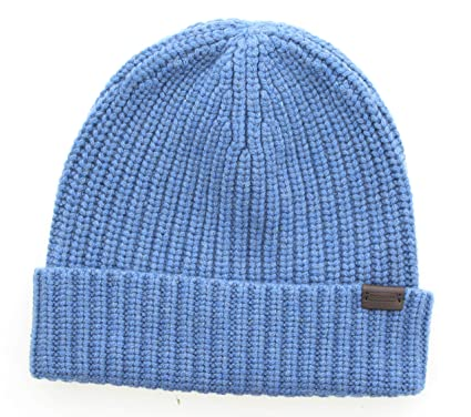 eb77fff17c5 Coach 83148 Solid Rib Knit Cashmere Beanie Cap Winter Hat (Blue) at Amazon  Men s Clothing store