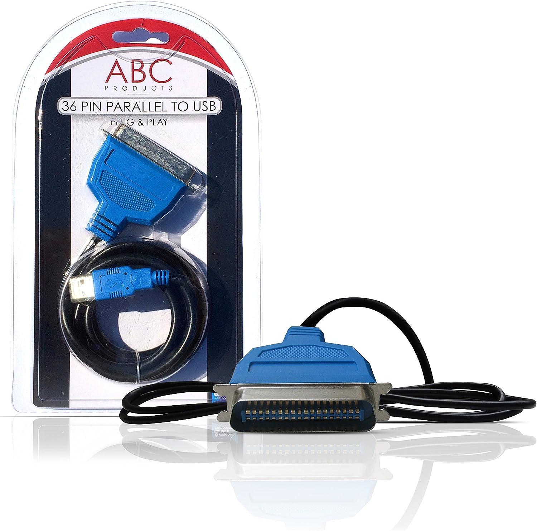 DP-iot USB Printer Parallel Port 36pin Male Conversion Cable Black